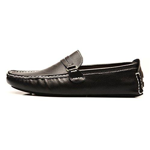 Tentoes Heren Leren Schoenen Britse Stijl Mode Rijden Loafers Zwart