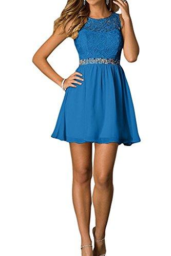 Tanzenkleider Damen Abendkleider Braut Partykleider Cocktailkleider Blau mia Heimkehr mit Kurzes Blau Mini La Spitze fFqvq