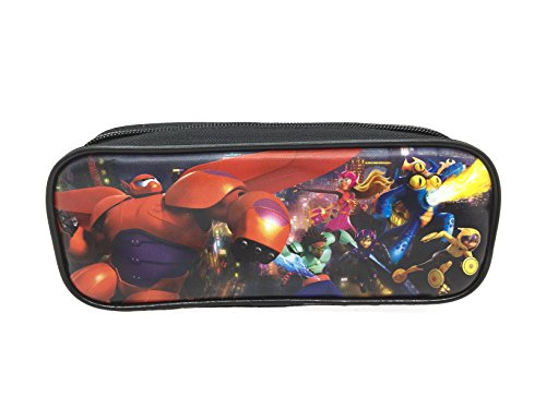 Disney Big Hero 6 Bay Max, Hero, Wasabi, Honey Lemon, Tomago and Fred Brand New 2014 Pencil Case Pouch Bag - Red
