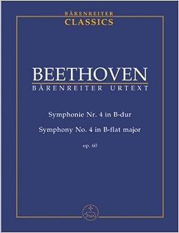 ベートーヴェン: 交響曲 第4番 変ロ長調 Op.60/ベーレンライター社/デル・マール編/中型スコア