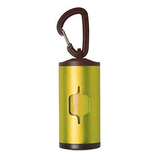 I-Fashion Dog Poop Bag Dispenser Aluminum Tube with 2 roll Bags Dog Waste Bag 5 Colors