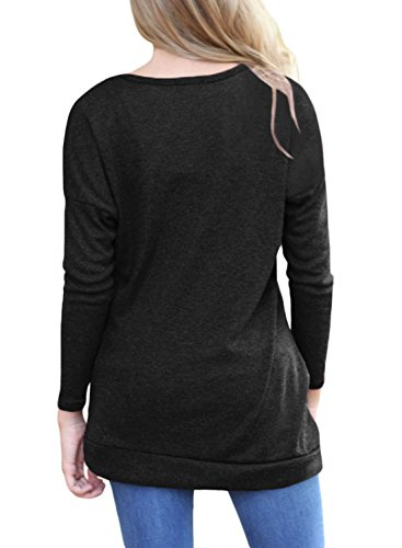 8afda25cc0d JomeDesign Women s Long Sleeve Round Neck Casual T-Shirt Tunic Tops Blouse