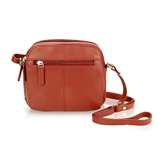 Shoulder Small Womens Visconti Bag Crossbody 18939 Red Leather aPOqxZOC