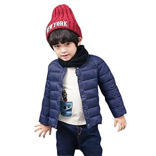 - Fakeface Kids Girls Boys Warm Casual Jackets Coats Autumn Winter Cotton Padded Lightweight Outfit Coats Clothes Outerwear Warmer Navy Blue