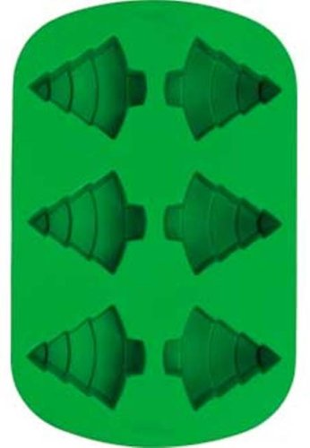 Wilton Holiday 6-Cavity Silicone Tree Pan