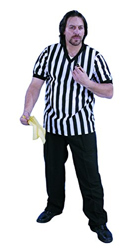 [Alexanders Costumes Men's Referee Shirt, Black, Medium] (Mens Referee Costumes)