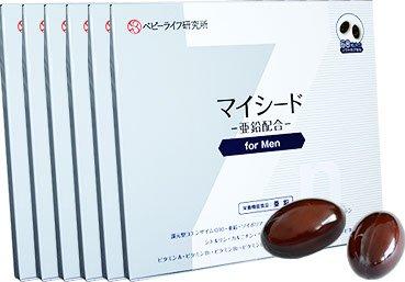 マイシード-亜鉛配合-for Men 6箱まとめ買いセット B01JZ7UFTE