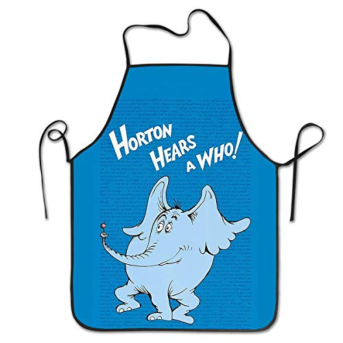 FUNINDIY Bib Apron Horton Hears A Who Kitchen Apron Waterproof for Cooking Chef Baker Servers BBQ Craft Men Or Women 20