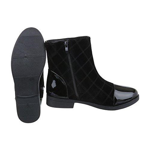 Bloc design Et Bottes Classiques Ital Bottines Femme Noir Chaussures 0FqTxISZ