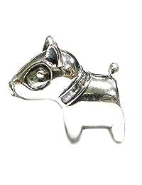 Sterling Silver Cute Pitbull Dog Bead For European Chamilia Biagi Troll Pandora Charm Bracelets