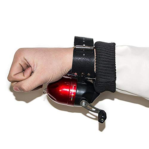 (Smarty Hunting Bowfishing Protective Hand Gloves Folding Wrist Slingshot Catapult Fishing Reel Wristband - Black (right))