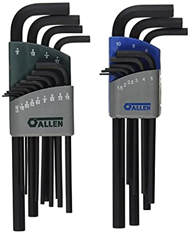 Allen 56609G 22-Key SAE/Metric Long Arm Hex Key Set - Arm Hex Key