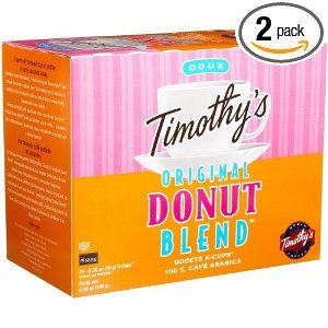 Timothy's Have Coffee, Original Donut Blend, K-Cup Portion Pack for Keurig K-Cup Brewers 24-Count  (Pack of 2)