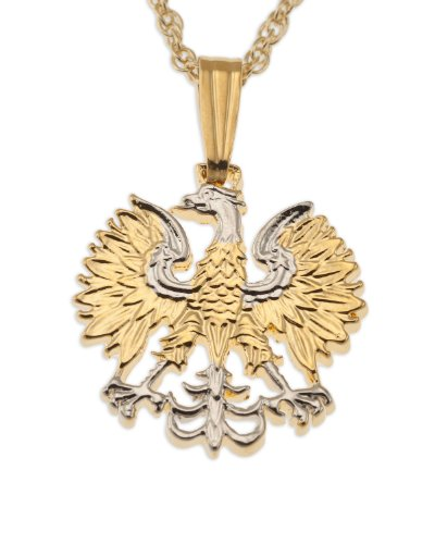 - Polish Eagle Pendant & Necklace, Poland 20 Zlotych Hand Cut Coin
