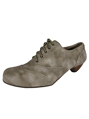 Mustang by Shoes Heeled Taupe MTNG 50483 Oxford Womens Grass vARvq6w
