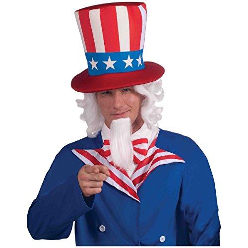 Forum Novelties Uncle Sam Wig and Beard Set, White, One Size