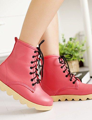 Redonda Eu39 Pink Yellow Semicuero Zapatos De Xzz Vestido Uk6 Beige Uk6 5 Cn40 Cn39 Rosa 5 Anfibias Casual Uk Punta Negro Plataforma Botas us8 Amarillo Mujer us8 0gqZnqUw
