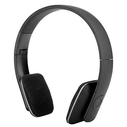 Wendry Active Noise Cancelling Headphones, Folded Bluetooth 4.2 Headphones Wireless Headphones Built-in HI-FI Noise Cancelling Mic Widely Supports a Variety of Mobile Phones, Tablets(Black)