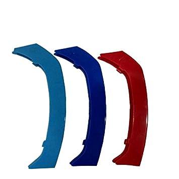 12 Grilles Pour 3 series E90 E91 320 325 330 335 2005-2008 M Couleur Avant Grille Garniture Kidney Clip Couverture Grill Rayure Trim Boucle D/écor