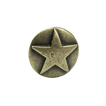 Springfield Leather Company Antique Brass Star Medallion Upholstery Tack 10 Pack