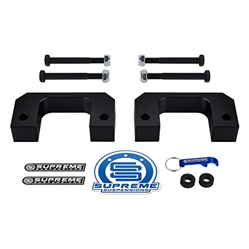 Supreme Suspensions - Front Leveling Kit for 2007-2019 Chevrolet Silverado 1500 and GMC Sierra 1500 [6-Lug] 2