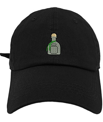 6db08458707 TheMonsta Patron Style Dad Hat Washed Cotton Polo Baseball Cap (Black)