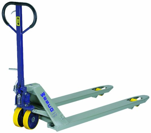 Wesco 272765 Deluxe Lowboy Pallet Truck with Handle, Polyurethane Wheels, 5500 lbs Load Capacity, 46-1/2'' Height, 48'' Length x 27'' Width