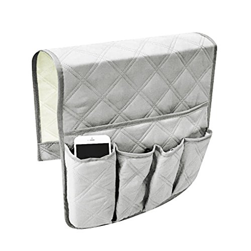 (Waterproof Sofa Couch Chair Armrest Organizer Sofa Arm Caddy Tray Tidy Hanging Storage Bag Table Cabinet Pocket for TV Remote Control,Phone,Books,Drinks,Snacks,Glasses,Magazines Holder Space Saver Bag)