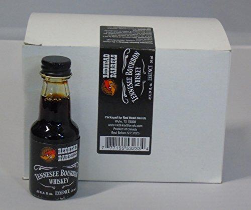 Essence Whiskey Bourbon - Case of 12 Bottles of Essence 20 ml Each Makes 1 Liter (Tennessee Bourbon)