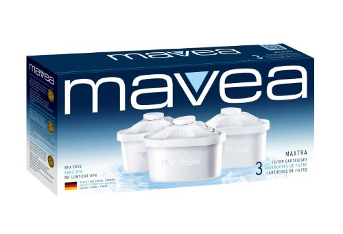 Mavea 1001122 Maxtra Replacement Filter for Mavea Water Filtration Pitcher -  Pack of 3