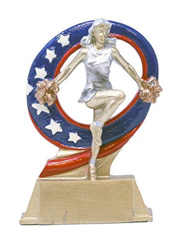Decade Awards Cheer Superstar Trophy | Cheerleader Award | 6.5 Inch Tall - Free Engraved Plate on Request