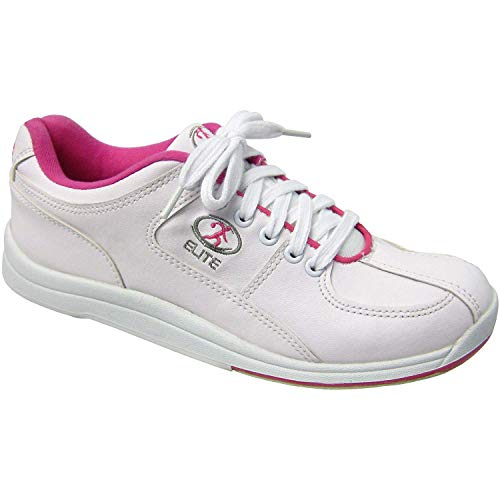 Elite Ariel Pink Women's Bowling Shoes - Quality & Comfortable - Universal Slide Sole for Left & Right Handed Bowlers (Size 9)