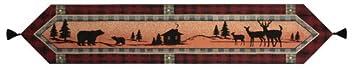 Manual Table Runner, Bear Lodge w/Tassels 83-NAT-UBRL72