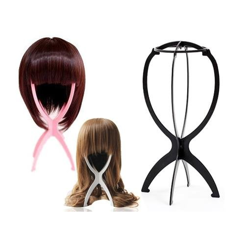 Wig Care (World Pride Folding Stable Durable Wig Hair Hat Cap Holder Stand Holder Display Tool)