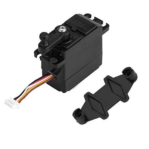 (Dilwe RC Car Servo, 5-Wire Steering Analog Servo Plastic Gear for XLH 9125 REMO HBX 1/10 1/16 RC Truck Truggy Car)