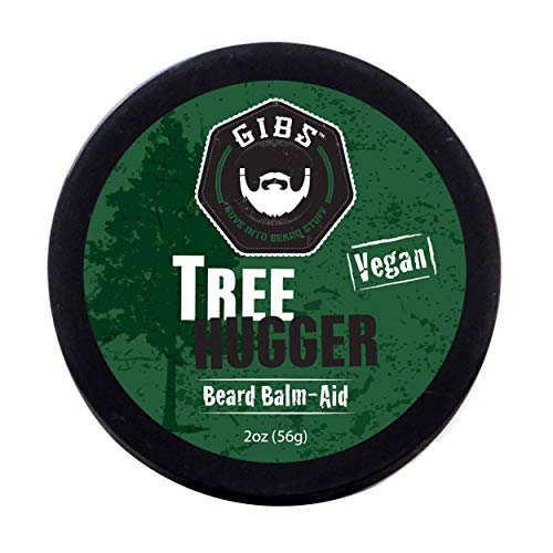 GIBS Grooming Tree Hugger Vegan Beard Balm- Styles, Strengthens, & Softens Beards & Mustaches- With Cocoa & Kokum Butter, Mango Butter, Coconut Oil, & Candelilla Wax, 2oz. (Tree Beard)