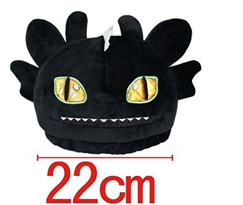 Toothless Night Fury Costumes (Mxnpolar How to Train Your Dragon 2 Toothless Night Fury Plush Hat Cap Cosplay Costume)