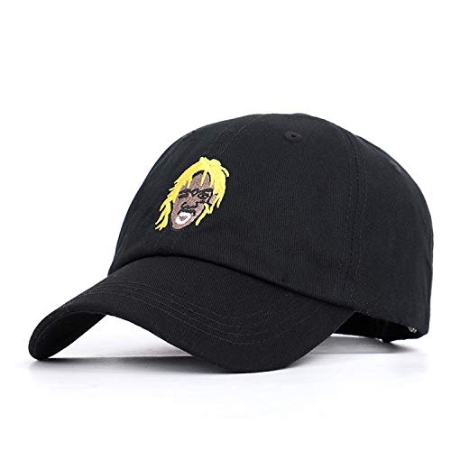 2019 New Rapper Embroidery Baseball Cap Connector Trend Hip Hop Hat Spring Sports Fashion Unisex Black