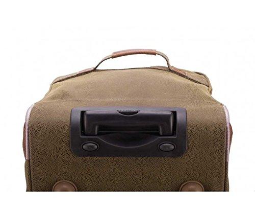 Trolley da viaggio principale città valigetta Serie animali da giardino marrone 108 litri + beauty case 5 litri + valigetta (rosso) ciondolo a forma di