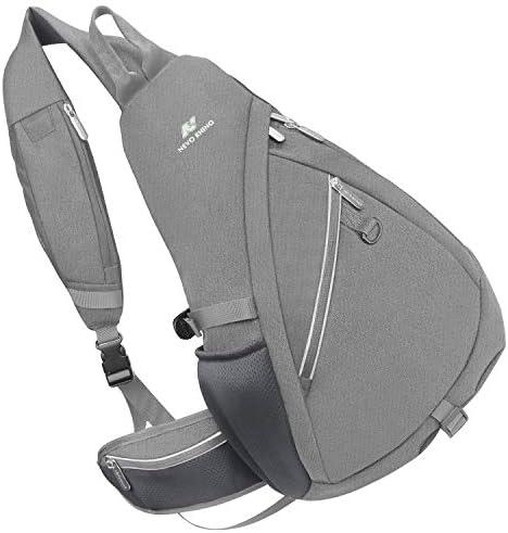 NEVO RHINO Sling Bag Waterproof Large Shoulder Chest Laptop Bagpack Men Women Riding Running Travel Hiking Daypack Crossbody