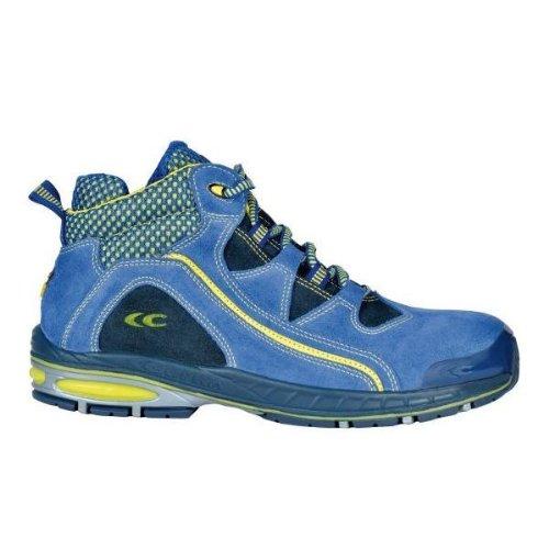 Cofra 19180-002 - Zapatos de seguridad de alta abrumados nuevo tamaño trotar s1p 47, azul,