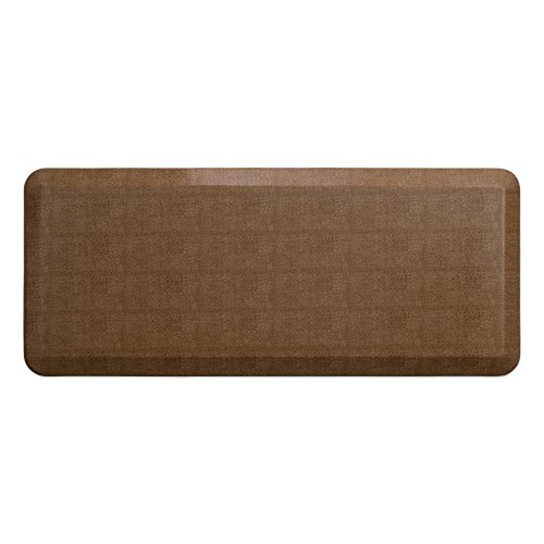 "NewLife by GelPro Anti-Fatigue Designer Comfort Kitchen Floor Mat, 20x48"", Pebble Caramel Stain Resistant Surface with 3/4"" Thick Ergo-foam Core for Health and Wellness"