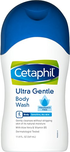 Gel Liquid Cleanser - Cetaphil Fragrance Free Ultra Gentle Body Wash, 11.8 Ounce