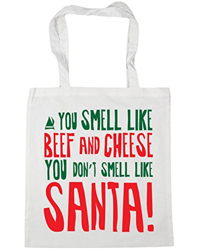 HippoWarehouse smell litres Gym Beach Bag x38cm like like don't 42cm You smell 10 santa Shopping cheese and you beef White Tote 8B8rqw