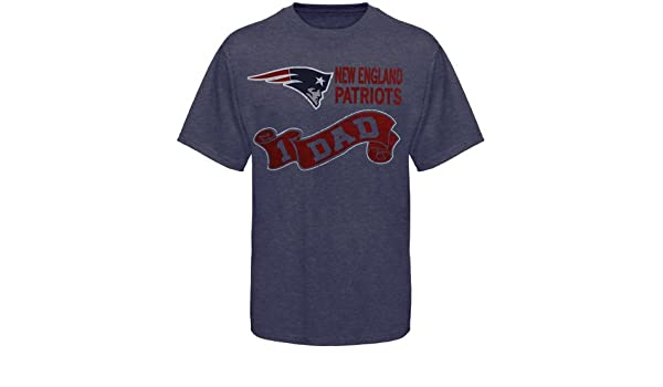 28818e3e5 Amazon.com : NFL New England Patriots #1 Dad T-Shirt - Navy Blue (Medium) :  Sports Fan T Shirts : Sports & Outdoors