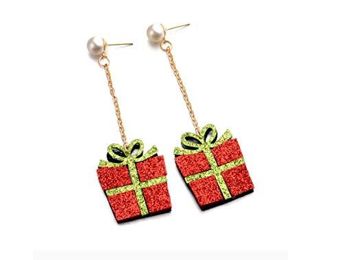 Christmas gift box earrings