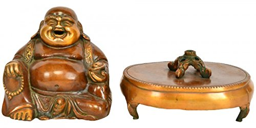 Exotic India XR43 Laughing Buddha Incense Burner