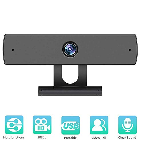 Webcam with Microphone, 1080P HD Webcam Streaming Computer Web Camera – USB Computer Camera for PC Laptop Desktop Video…
