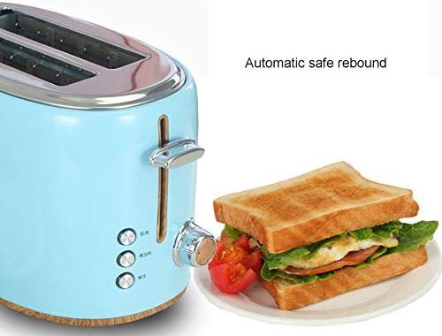 NAFE Grille-Pain 2 tranches, 220V 850W, Grille-Pain Multifonction, ramasse-miettes Amovible, Grille-Pain pour Machine à Petit-déjeuner, Gril à Sandwich en métal, Bleu