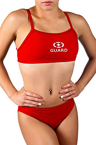 Adoretex Women's Guard Xtra Life Lycra Two Piece Swimsuit - FGN03 - Red-8